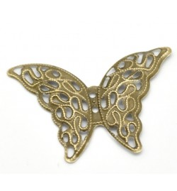Metallic Butterfly 41x29x1.3mm  1piece