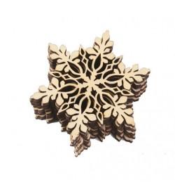 Ξύλινο διακοσμητικό Χιονονιφάδα 8cm
