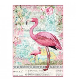 """Ριζόχαρτο Α4: """"Pink Flamingo"""""""