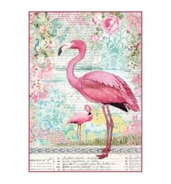 "Ricepaper A4: ""Pink Flamingo"""