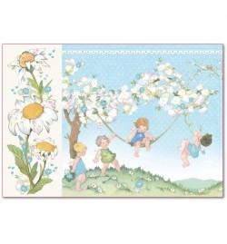 "Ricepaper 33x48cm: ""Baby Boy"""