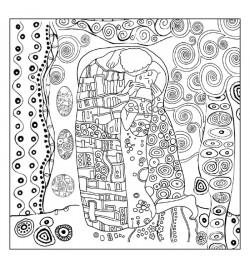 "Ricepaper 50x50cm: Klimt ""The Kiss"""