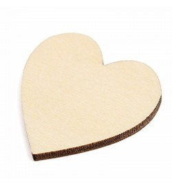 Ξύλινη καρδιά 4cm x 3mm  1τεμ