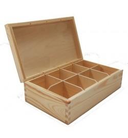 Ξύλινο Κουτί για Τσάι - 8 Χωρίσματα 27x19.5x7cm