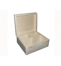 Ξύλινο Κουτί για Τσάι - 4 Χωρίσματα 18x15x8cm