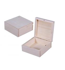 Ξύλινο Κουτί Τετράγωνο 10x10x5cm