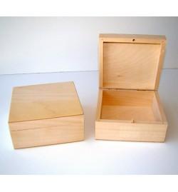 Ξύλινο Κουτί Τετράγωνο 13x13x6cm