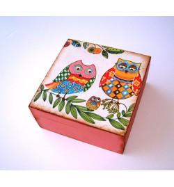 Wooden Box Square 13x13x6cm
