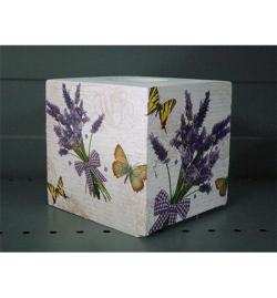 Wooden Tissue Box 15.5x13x13.5cm
