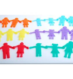Ανθρωπάκια SiliShapes που ενώνονται 36pcs