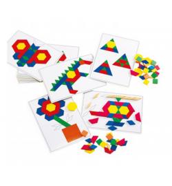 Σετ 20 Κάρτες Α4 για Pattern Blocks-Βασικά Σχέδια