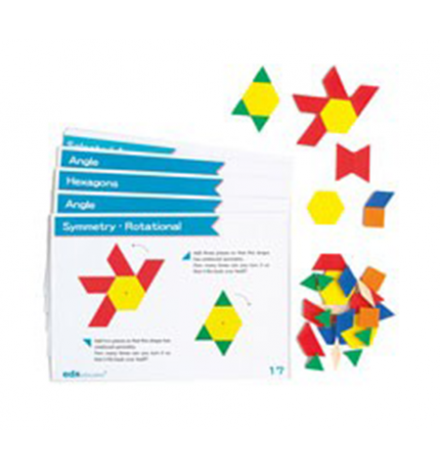 Σετ 16 Κάρτες Α4 για Pattern Blocks-Άλλα Σχέδια