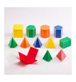 Folding Geometric Solids 2D/3D - 12pcs
