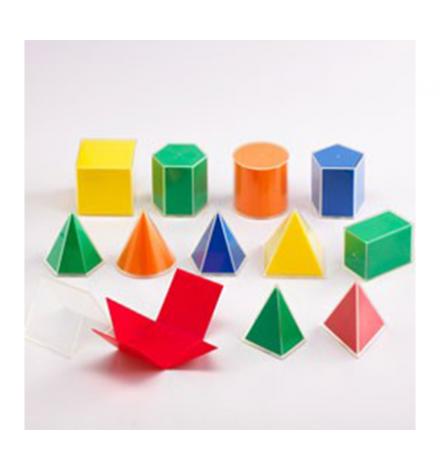 Γεωμετρικά Σχήματα με Αναπτύγματα 2D/3D - 12pcs
