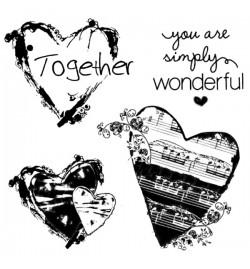"""Σφραγίδα HD 10x10cm """"Together Hearts"""" - Stamperia"""