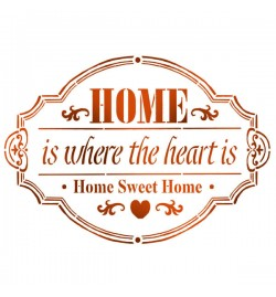 """Στένσιλ 15x20cm: """"Home"""" - Stamperia"""