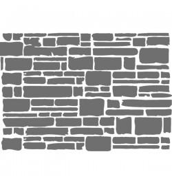 """Στένσιλ 15x20cm: """"Texture brick"""" - Stamperia"""