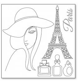 """Ricepaper 50x50cm: """"Paris"""""""