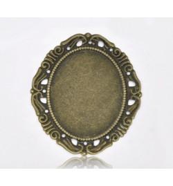 Metallic Oval Frame 53x44x9mm 1piece