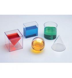 Transparent Geometric Shapes 10cm 6pcs